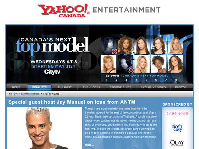 Yahoo! Canada – Canada's Next Top Model