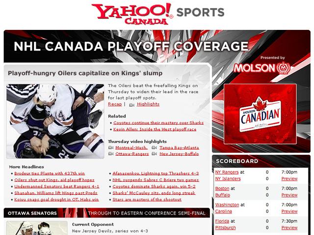 Yahoo! Canada – NHL Playoffs