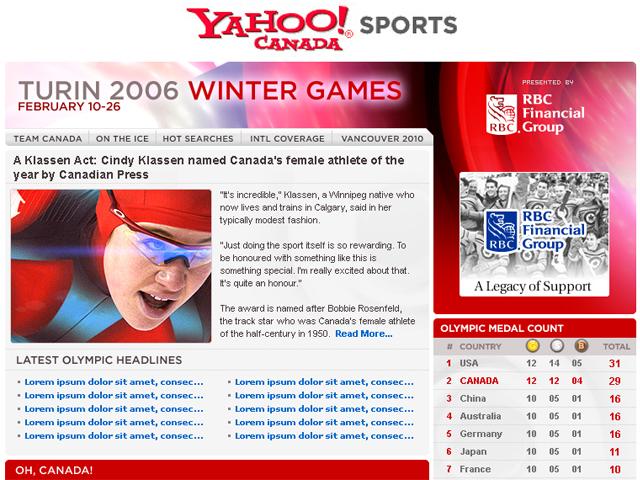 Yahoo! Canada – Olympics