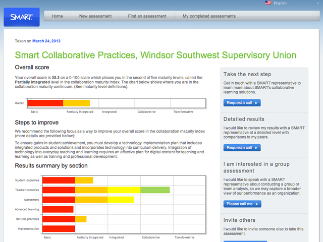 SMART Technologies – Collaboration Assessment